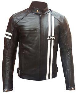 hot sale online b8534 70d6d Dettagli su Giacca Pelle Uomo Biker Nero con Protezioni CE Taglia S, M, L,  XL, 2XL, 3XL, 4XL