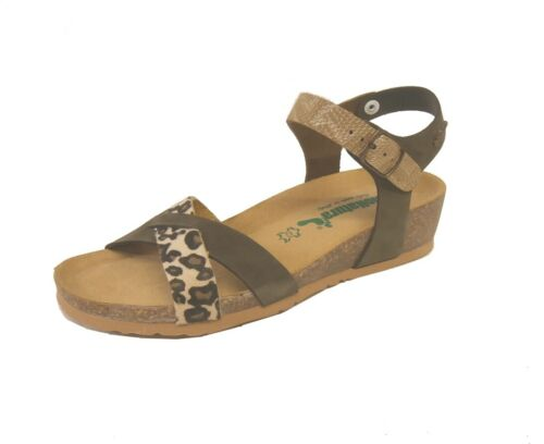 Bionatura sandalo incrocio 12 Fregene imb.nabuk multi animal made in Italy