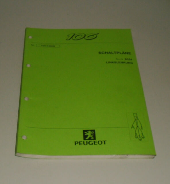 Workshop Manual Peugeot 106 Wiring Diagrams Stand 09  1999