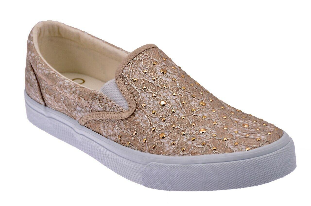 SCARPE Liu Jo Pizzo Taupe Slip On scarpe da ginnastica Nuove TAU52994 SCARPE FASHION DONNA