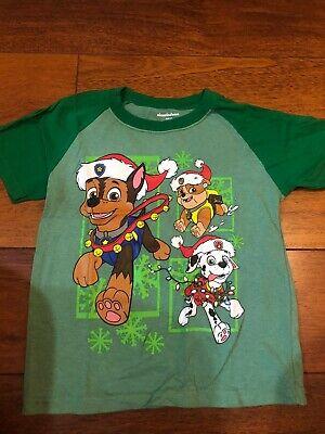 Nickelodeon Paw Patrol Green Christmas Toddler Boy Shirt Top New 5T