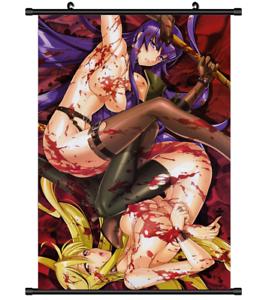 3964 Anime Gakuen Mokushiroku HIGHSCHOOL OF THE DEAD Saeko wall Poster Scroll A