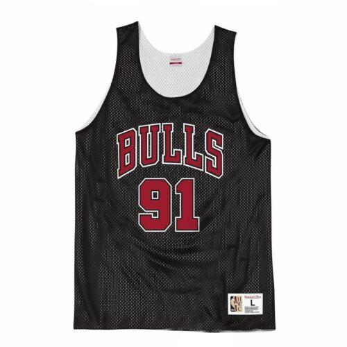 Mitchell /& Ness Chicago Bulls Rodman Mens Reversible Tank Vest NNRMDA18007 RD96