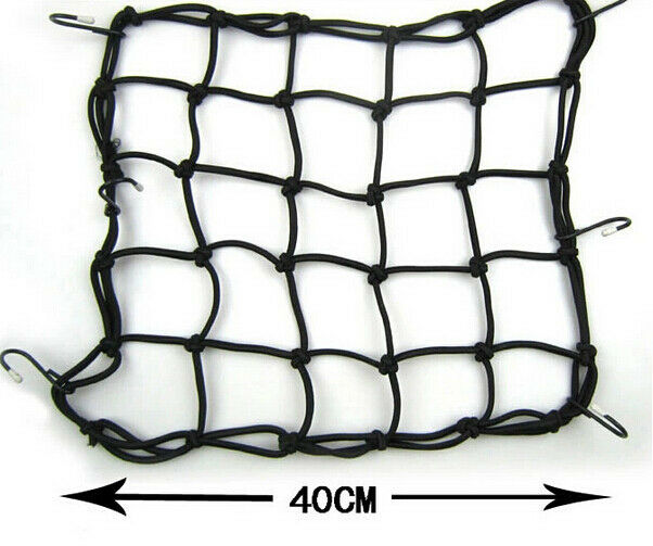 Black Electric Helmet Sundries Cargo Storage Fixed Net With 6 Hooks For Harley