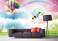3D-Color-Hot-Air-Balloon-54-Paper-Wall-Print-Wall-Decal-Wall-Deco-Indoor-Murals