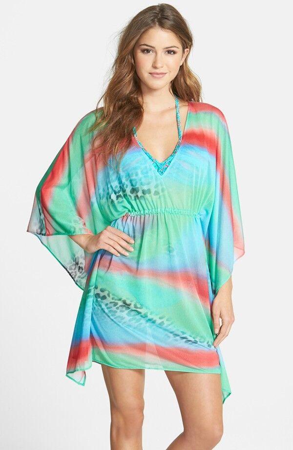"""Nuevo Luli Fama """"Mermaid Brillo"""" encubrimiento Vestido Talla Única   162 Multi azul  venta directa de fábrica"""