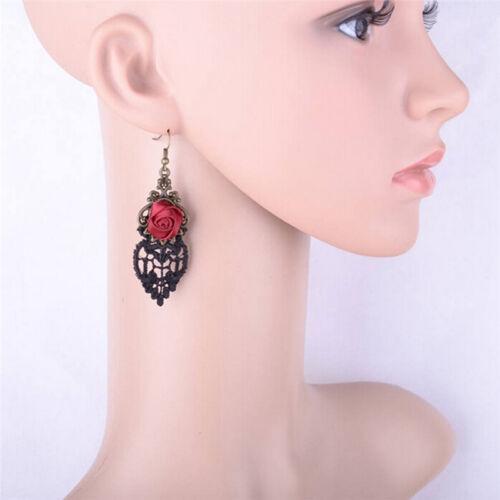 New Fashion Aestheticism Gothic Victorian Retro Lace Vintage Pendant EarringsjbG