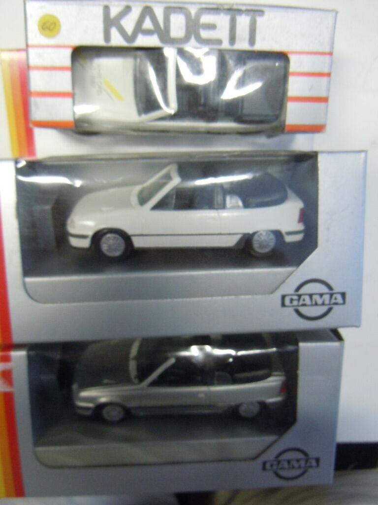 3 RARE OPEL KADETT E GSI Cabriolet modelli di Gama in 1 43 OVP NUOVO