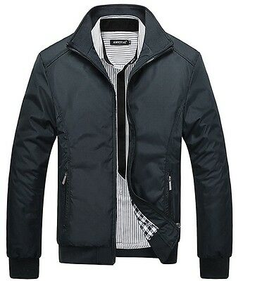 Uk Stock Jacket Spring Winter Men Coat Padded Outwear Mens Slim Collar Casual