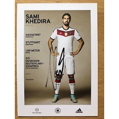 Sami Khedira 2. AK DFB 2014 Autogrammkarte hinten original signiert