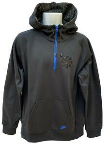 NUOVO-Nike-Sportswear-Nsw-VINTAGE-Atletica-Leggera-Mezza-Cerniera-Shell-Felpa-con-cappuccio-Nero-L