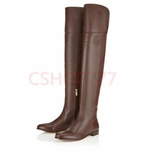 womens-over-the-knee-high-knight-leather-Boots-zip-Casual-winter-outdoor-shoes-S