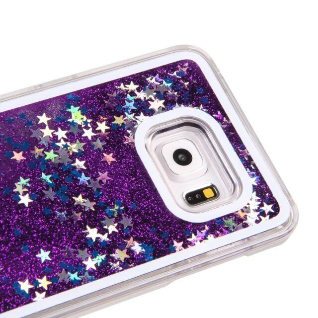 check out 55552 455c7 Samsung Galaxy S7 Edge - Purple Hard Flowing Liquid Case Waterfall Glitter  Stars