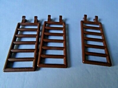 LEGO PART 6020 LADDER 7 X 3 WITH DOUBLE CLIPS DARK GREY X 3 PCS NEW