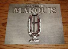 Original 1977 Mercury Marquis Sales Brochure 77 Brougham Meteor