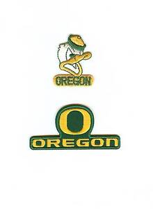 2 ncaa oregon ducks embroidered patches. New. Fast same day.