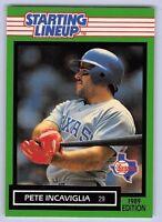 1989  PETE INCAVIGLIA - Kenner Starting Lineup Card - TEXAS RANGERS