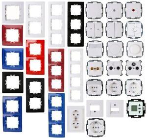KOPP Paris silber Schalterprogramm Dimmer Rahmen Steckdose Taster Schalter