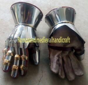 Functional Medieval Reenactment SCA Milanese Gauntlets 16G Steel Mitten SCA LARP