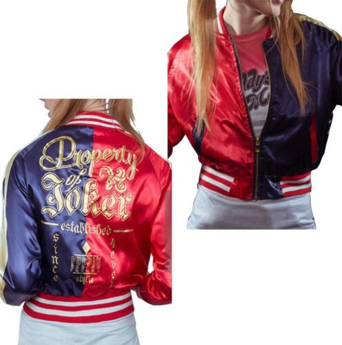 Womens Harley Suicide Squad Jacket Ladies Halloween Party Quinn Bomber Jacket
