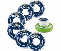 Corona 31 Inch Corona Bottle Cap Tubes, 6 Pack With Inflatable Floating Cooler
