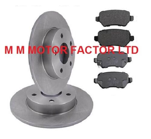 1998-2005 All Models Rear Brake Discs /& Brake Pads Vauxhall Zafira Mk1
