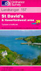 St.David's and Haverfordwest Area by Ordnance Survey (Sheet map, folded, 1990)
