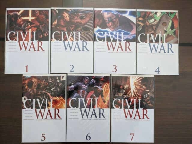 Civil War 1 - 7 1st Prints Complete Set Marvel Comics 2006 NM