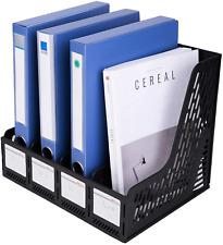 Magazine File Book Holder Desktop Organizer Vertical Document Folder Shelf