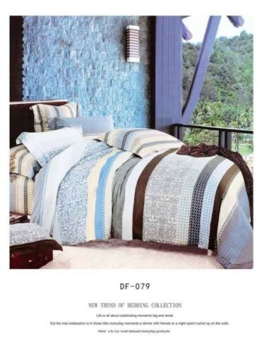 100/% Microfibre 4PCS Duvet Bedding Set Duvet Cover Pillow Cases /& Fitted Sheet