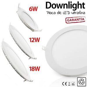DOWNLIGHT-LED-ULTRAFINO-VARIOS-TAMANOS-6W-12W-18W-REDONDOS-placa-led-techo-blanc
