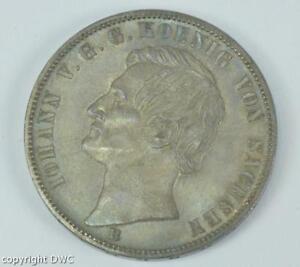 Coin-Muenze-Siegestaler-Johann-Koenig-von-Sachsen-1871-in-Silber-silver-11601
