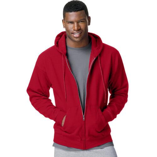 XXL p180 Full Zip-Up Hooded Sweatshirt XXXL 3XL 2XL Hanes Men/'s Size S-XL