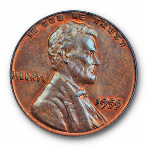 1955-Double-Die-Obverse-Lincoln-Wheat-Cent-PCGS-MS-64-BN-CAC-1955-1955
