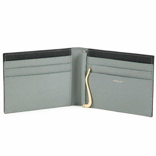Paul Smith Noir Avec gris intérieur cuir carte et de l/'argent Clip portefeuille