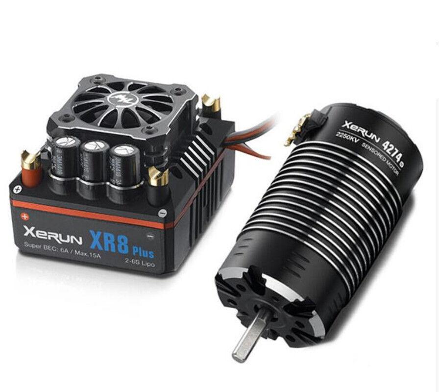 HWI38020407 XERUN XR8 Plus 150A ESC + G2 4274SD 2250KV Sensored Motor Combo