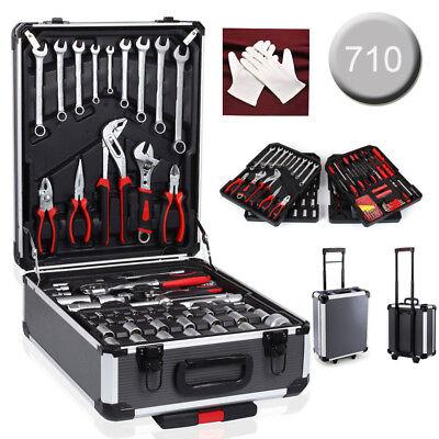 710Pcs Tool Set Case Mechanics Kit Box Organize Castors Toolbox Trolley UK