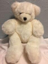 "The Maine Bear Factory White Teddy Bear 16"" Plush Stuffed Toy Freeport"