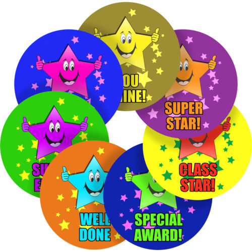 Star Sticker Labels Children Teacher Praise Parent School