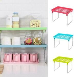 Standing-Shelf-Kitchen-Bathroom-Countertop-Storage-Organizer-Shelf-Holder-New