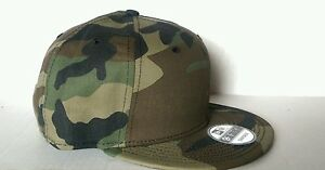 236849d5 Details about New Era 9Fifty Flat Snapback Hat Cap Blank Camouflage Army  Camo Military 9FIFTY