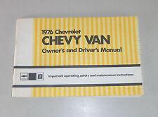 Owner's Manual / Betriebsanleitung Chevrolet Chevy Van G 20 / G 30 von 1976