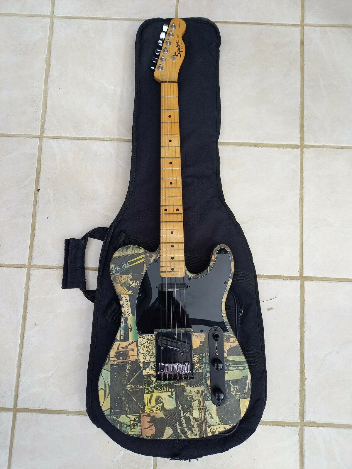 This Squier Telecaster electric guitar is for sale - Squier Affinity Telecaster Electric Guitar (China, 2009, with upgrades and mods)