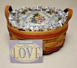Longaberger 1995 Mother's Day Basket of Love Basket with