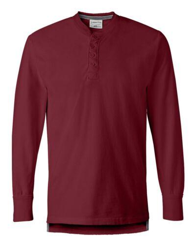 J America Men/'s Vintage Brushed Jersey Henley Shirt
