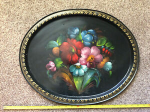 HAND-PAINTED-RUSSIAN-TRAY-vintage-large-20-x-16-inches-MADE-IN-USSR-R