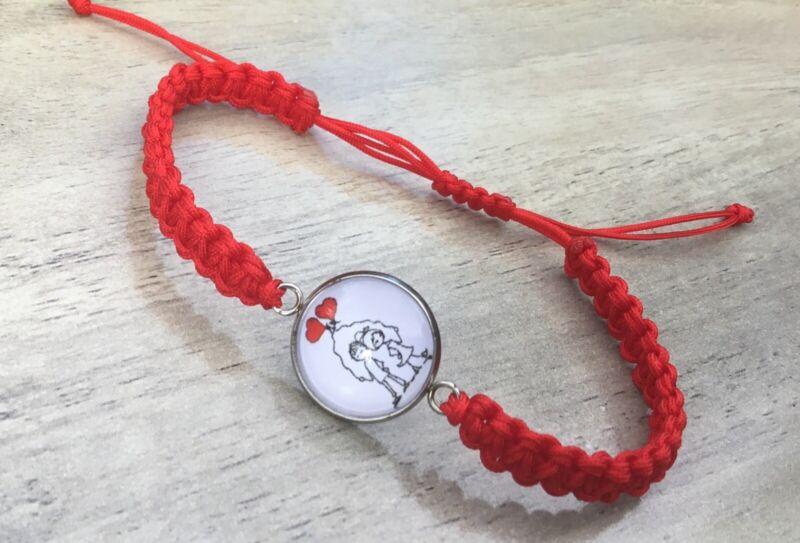 Love Bracelet Handmade Red Cord Free Postage
