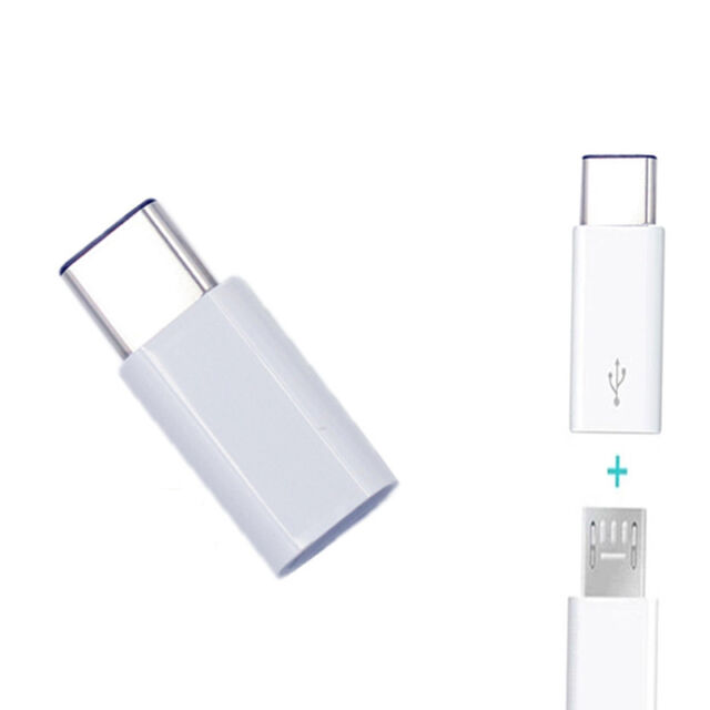 White USB 3.1 Type C Male to Micro USB Female Data Adapter for Tablet&Phone en