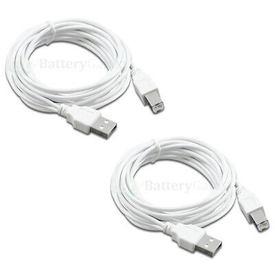 15ft USB 2.0 Extension /& 10ft A Male//B Male Cable for HP Photosmart Premium All-in-One Printer