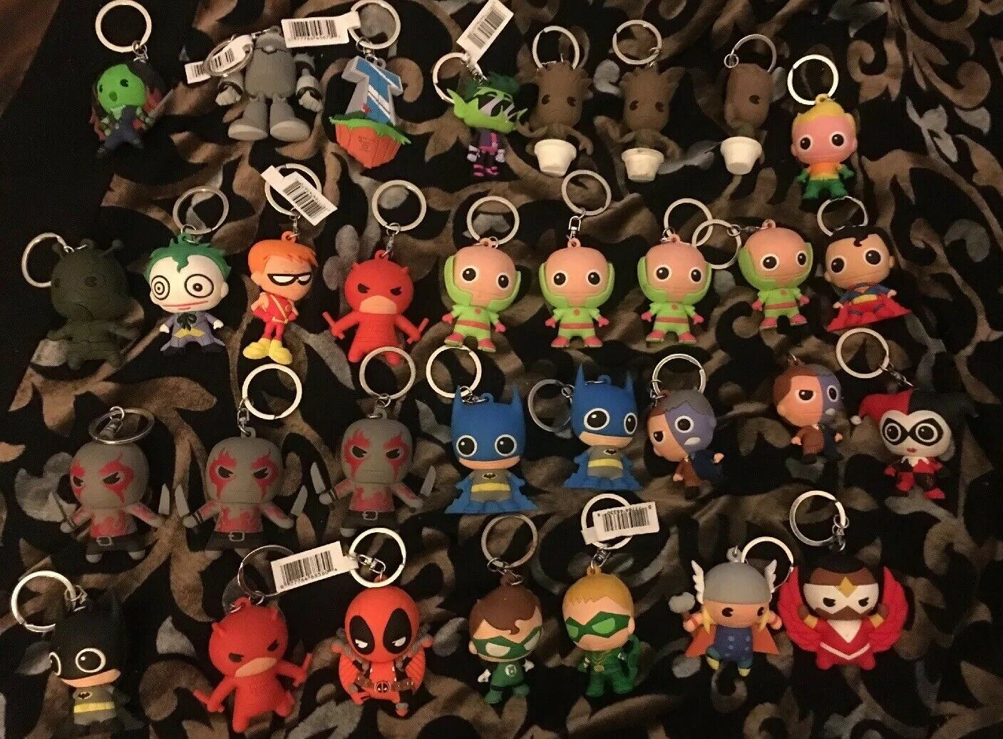 DC y Marvel Llaveros  5 cada uno o 5 por 20